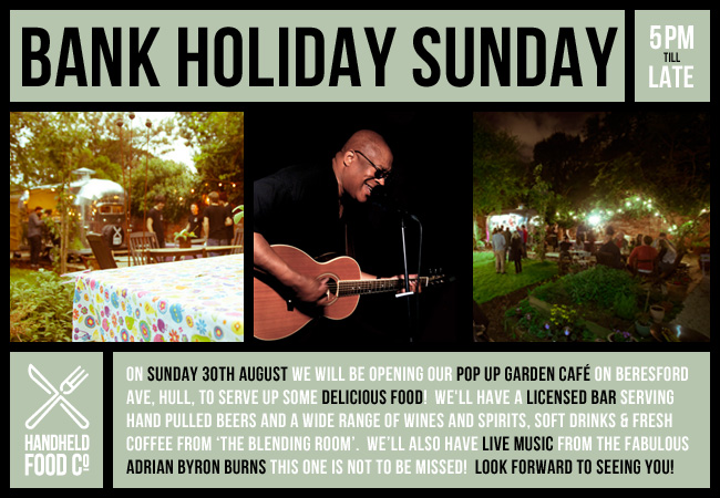 Bank Holiday Sunday - 30th August with Adrian Byron Burns