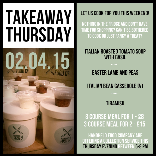 takeaway thursday menu
