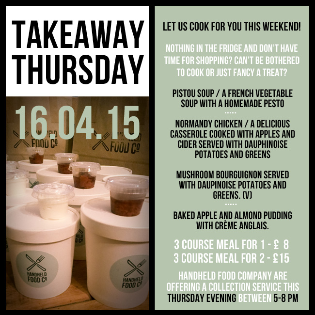takeaway thursday menu - 16.04.15